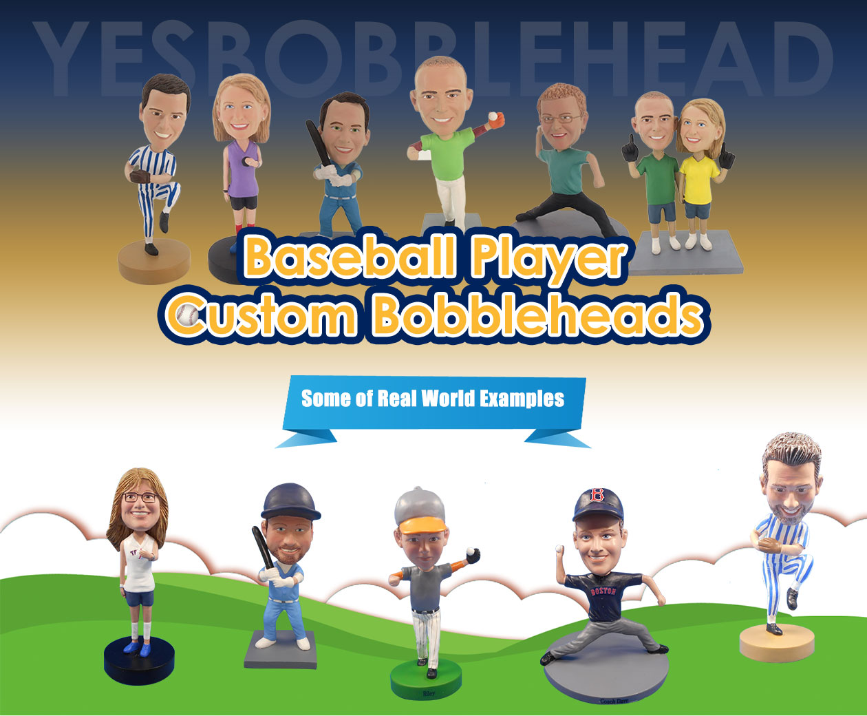 Baseball Player Custom Bobbleheads