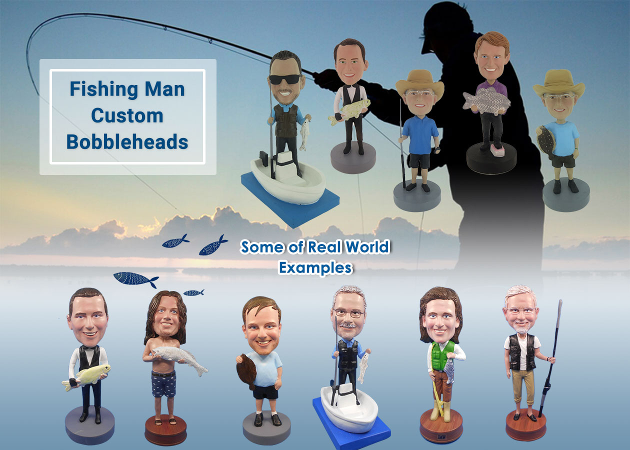 Fishing Man Custom Bobbleheads