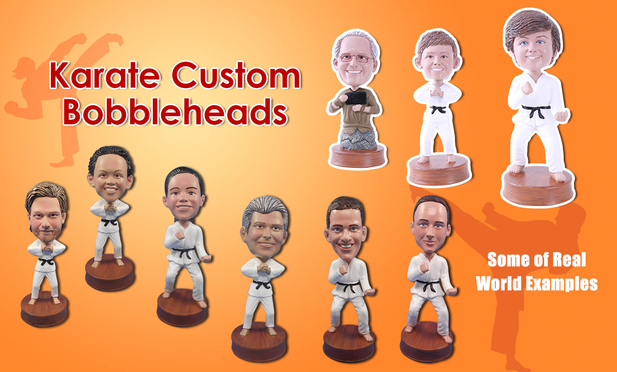 Karate Player Custom Bobbleheads