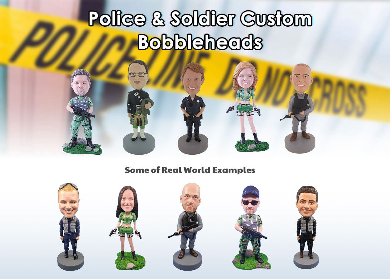 Police & Soldier Custom Bobbleheads