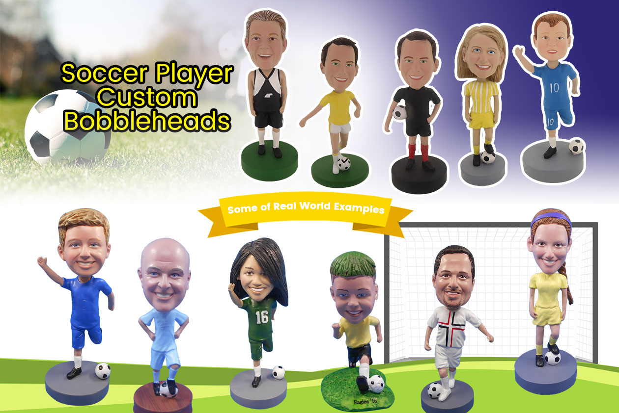 Soccer Player Custom Bobbleheads