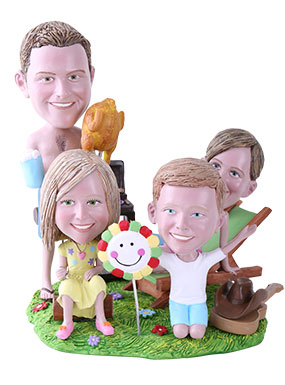 BBQ Theme Custom Bobbleheads