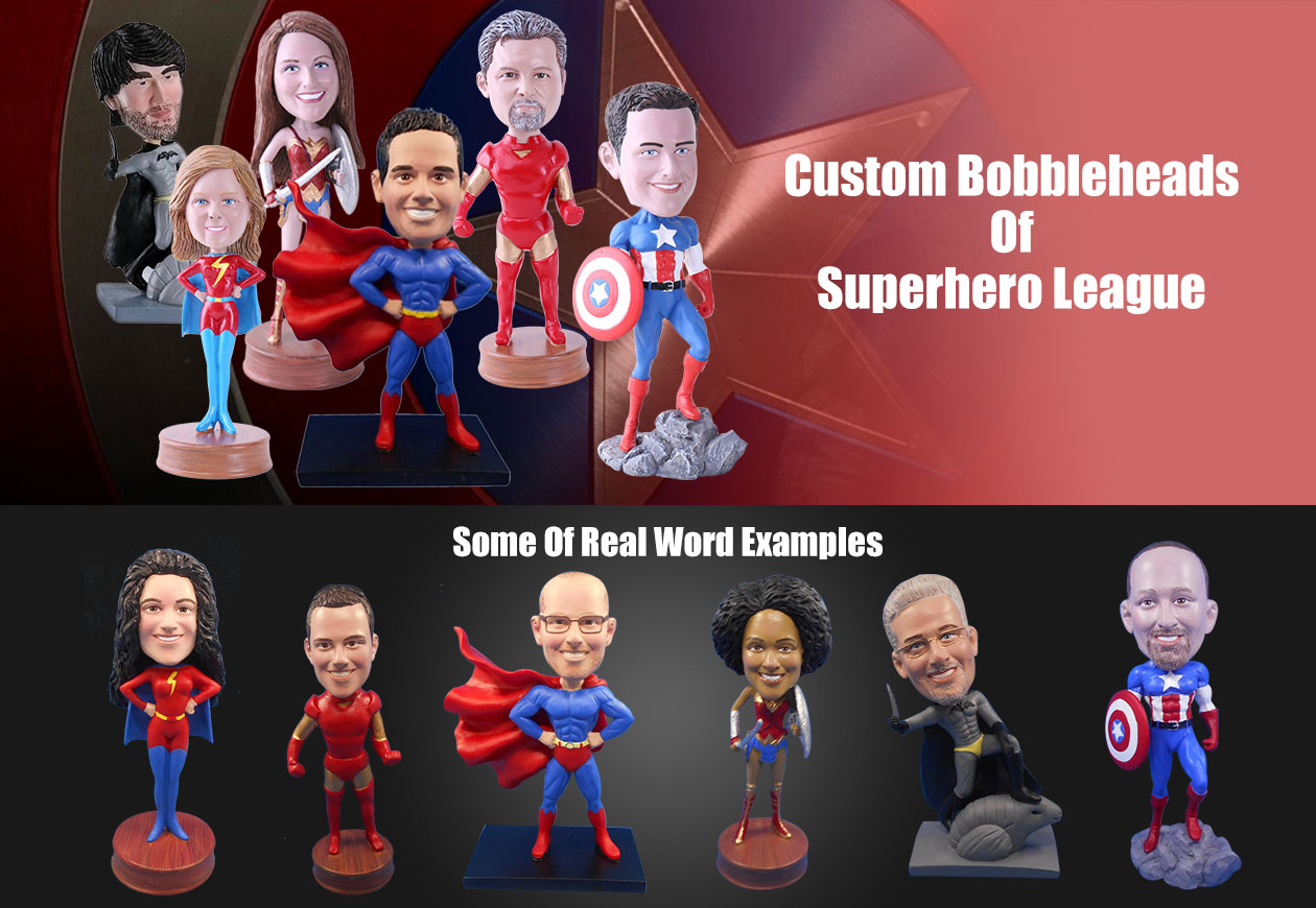 Superhero Custom Bobbleheads