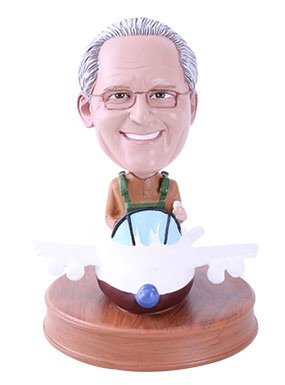 Airplane Pilot Custom Bobbleheads