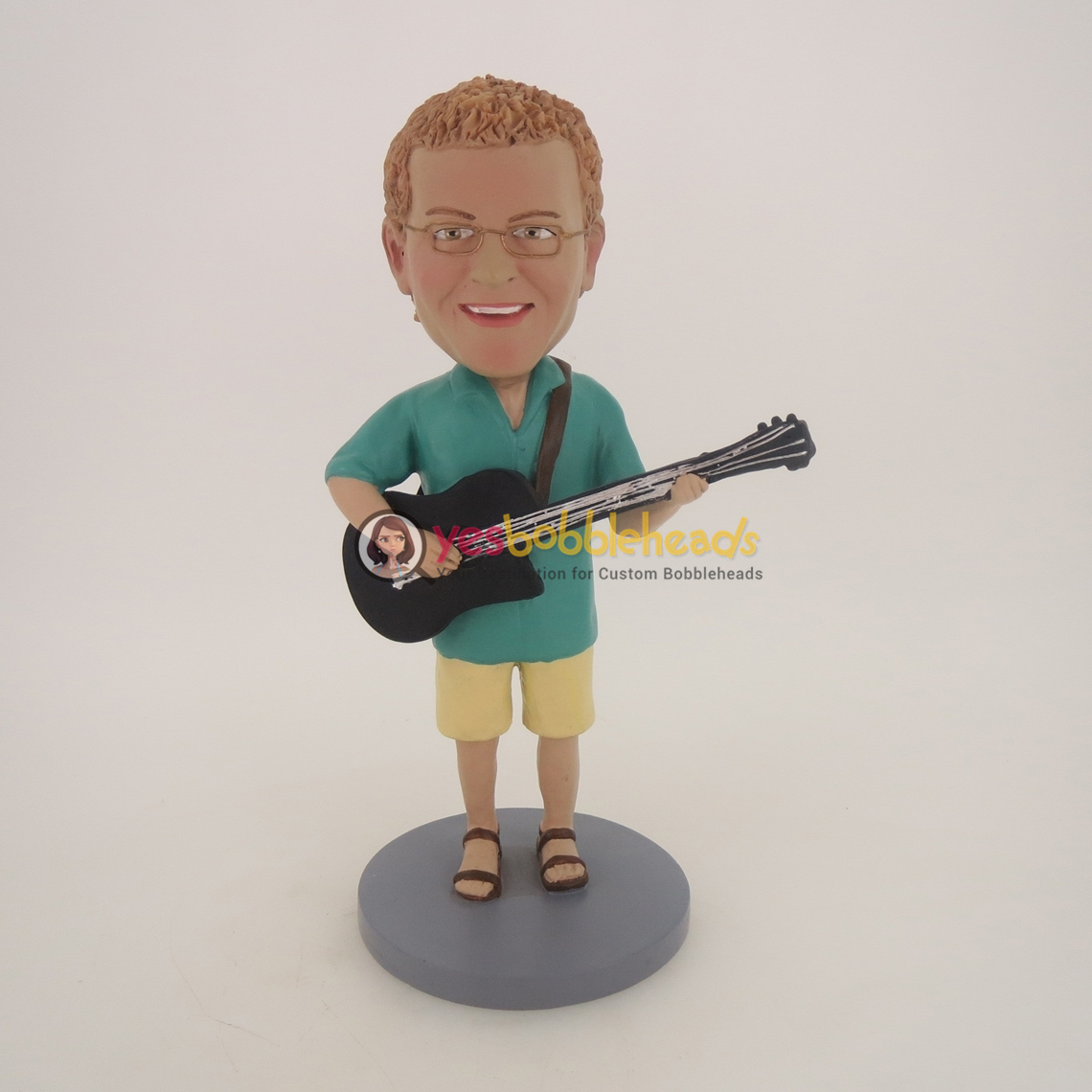 Picture of Custom Bobblehead Doll: Acoustic Guitar Player Male