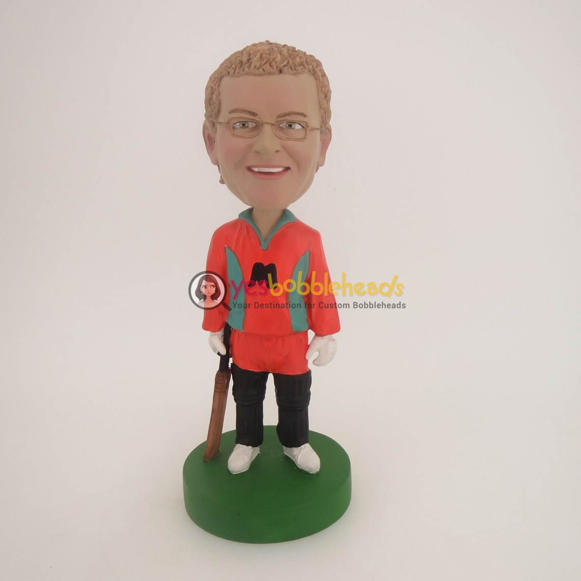 Picture of Custom Bobblehead Doll: Cricketer Player