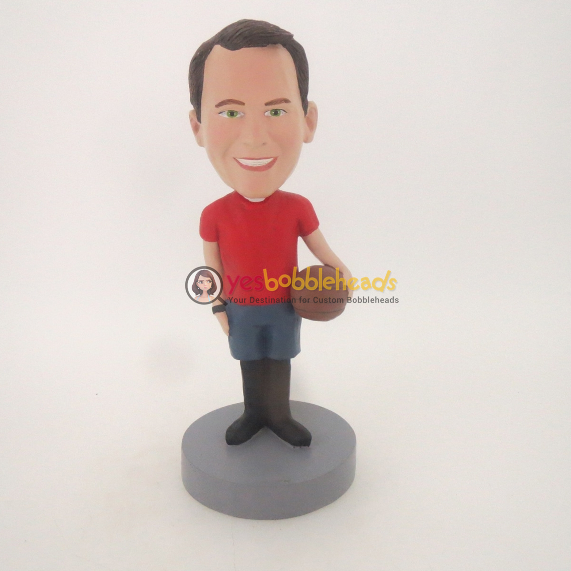 Picture of Custom Bobblehead Doll: Basketball Personalized