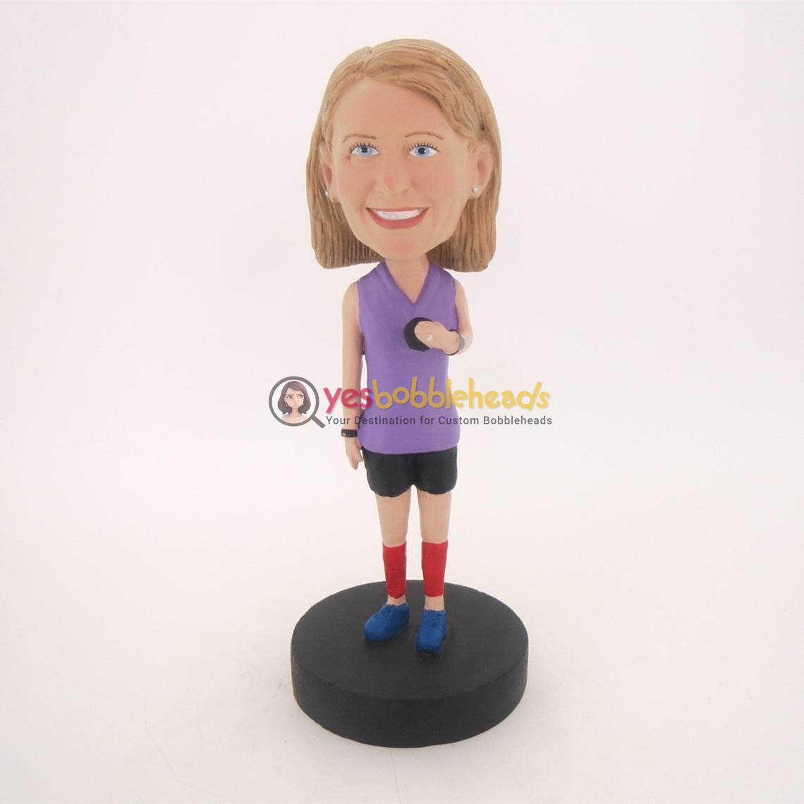 Picture of Custom Bobblehead Doll: Girl Holding a Small Ball