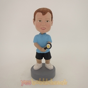 Picture of Custom Bobblehead Doll: Boy Tennis Player