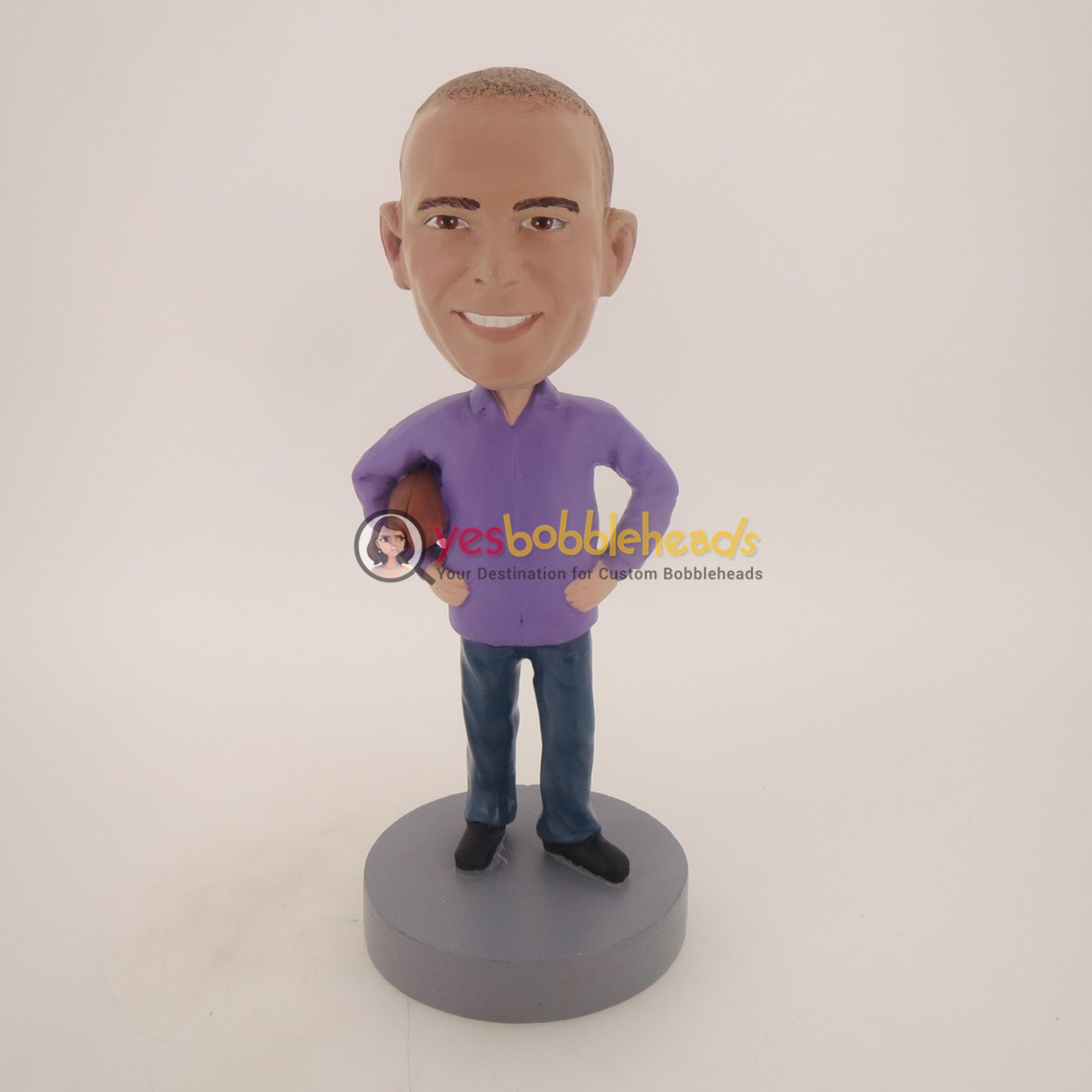 Picture of Custom Bobblehead Doll: Casual Football Fan