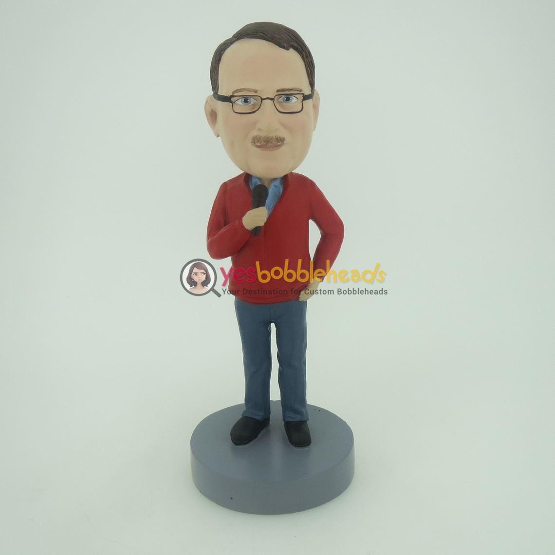 Picture of Custom Bobblehead Doll: Casual Male Singer