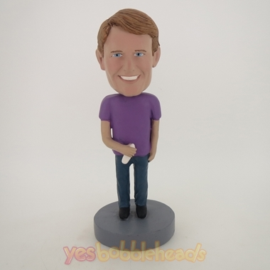 Picture of Custom Bobblehead Doll: Cell Phone In Hand Man