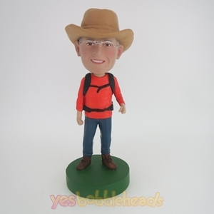 Picture of Custom Bobblehead Doll: Cowboy And Backpack