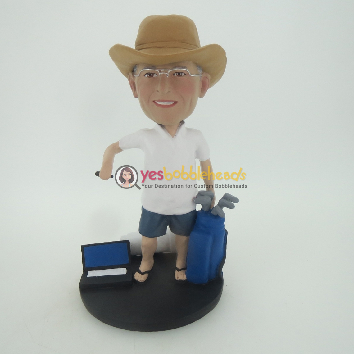 Picture of Custom Bobblehead Doll: Cowboy And Golf Club