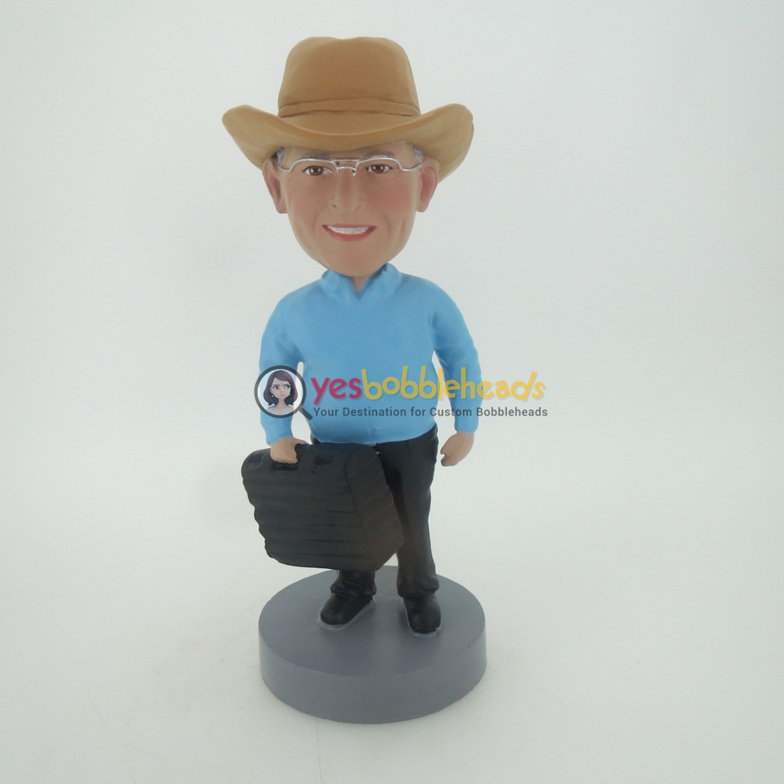 Picture of Custom Bobblehead Doll: Cowboy And Toolbox