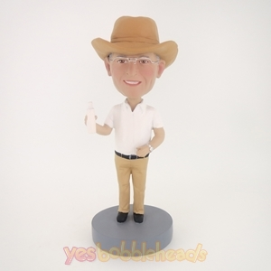Picture of Custom Bobblehead Doll: Cowboy Drinking