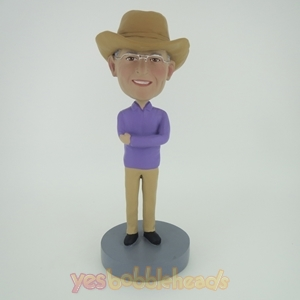 Picture of Custom Bobblehead Doll: Cowboy Hands Crossing