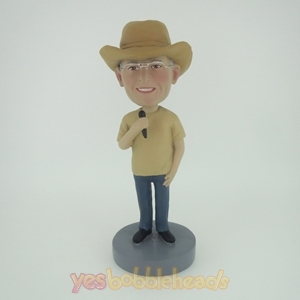 Picture of Custom Bobblehead Doll: Cowboy Singer