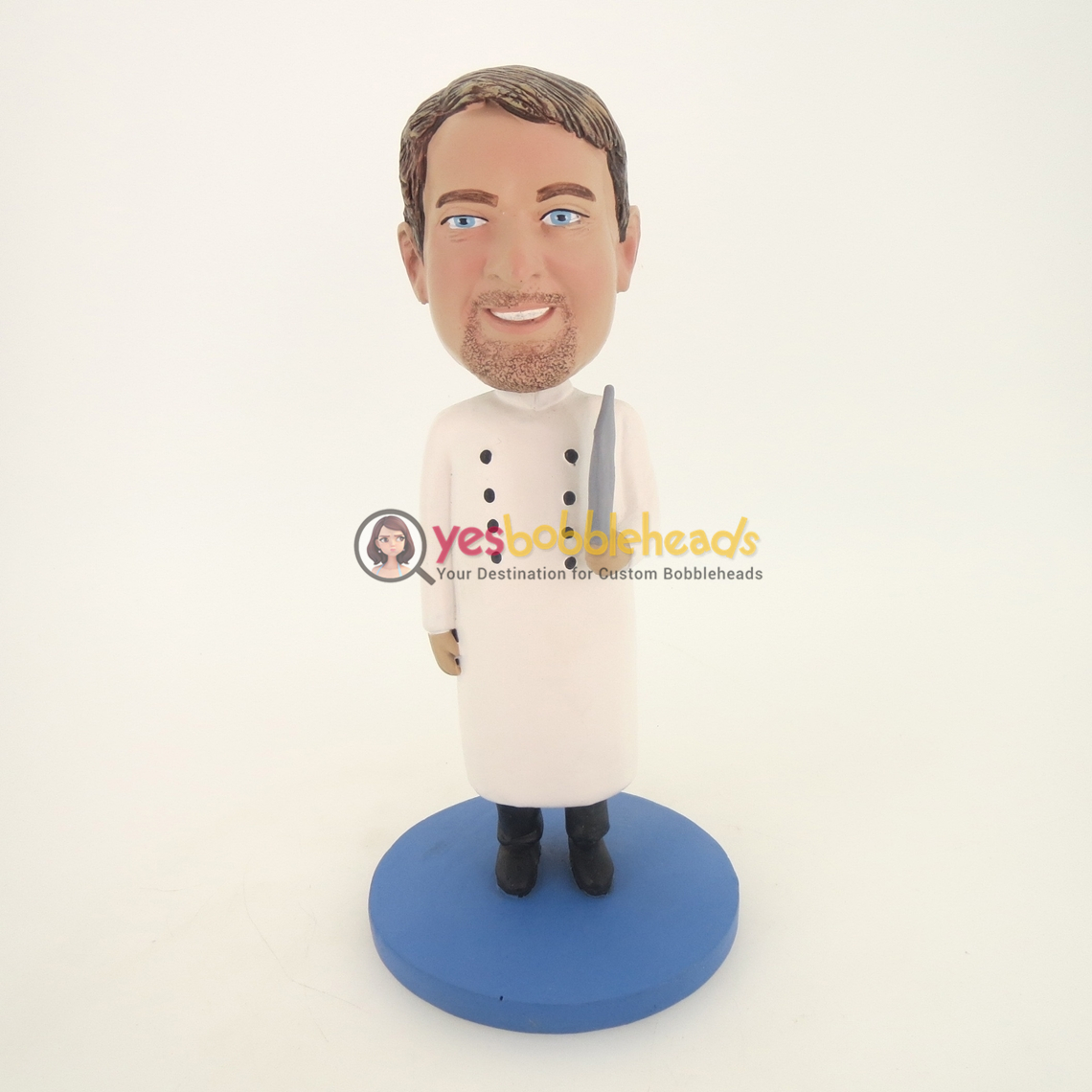Picture of Custom Bobblehead Doll: Doctor In Closed Lab Coa