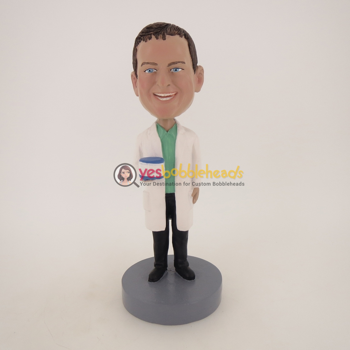 Picture of Custom Bobblehead Doll: Dentist Holding Teeth