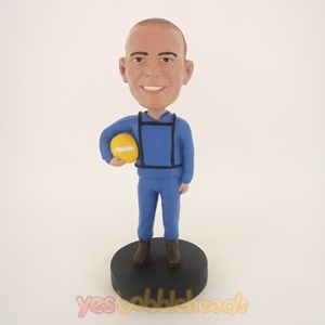 Picture of Custom Bobblehead Doll: Fireman Holding Hat