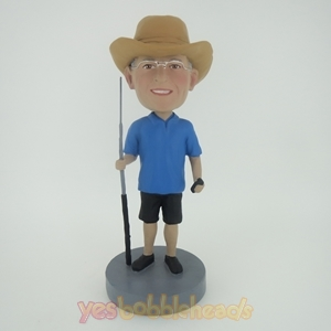Picture of Custom Bobblehead Doll: Fisherman With Rod