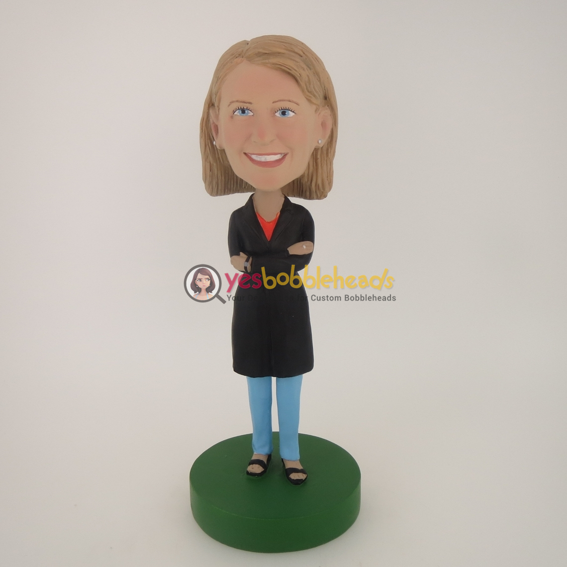 Picture of Custom Bobblehead Doll: Black Clothes Girl