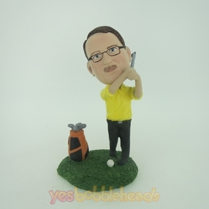 Picture of Custom Bobblehead Doll: Golfer Man With Club