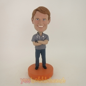 Picture of Custom Bobblehead Doll: Gray Uniform Doctor