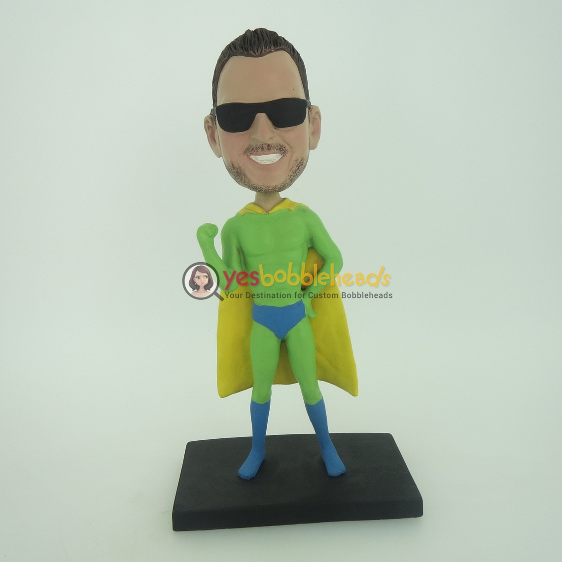 Picture of Custom Bobblehead Doll: Green Superman