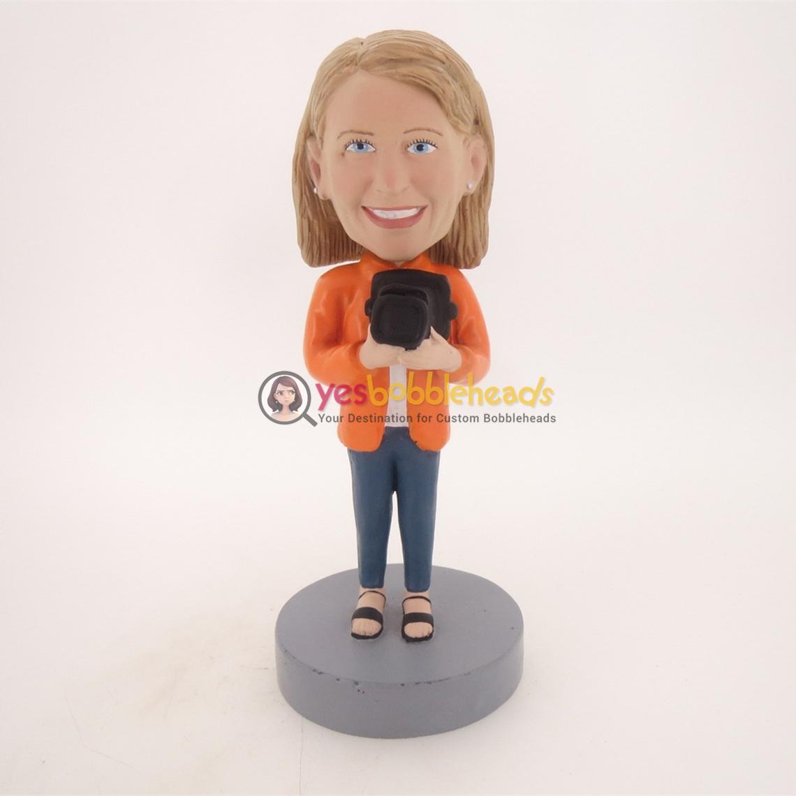 Picture of Custom Bobblehead Doll: Black Hat Girl