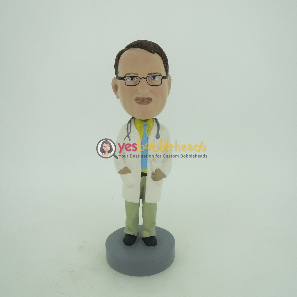 Picture of Custom Bobblehead Doll: Hands In Lab Coat Male Doctor