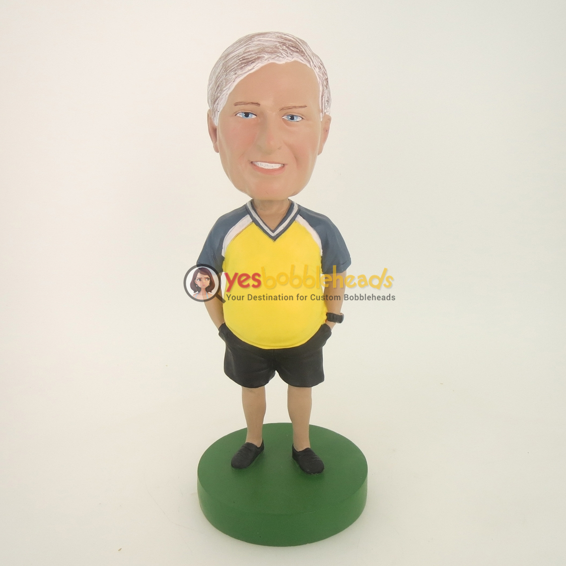 Picture of Custom Bobblehead Doll: Hands In Shorts Male