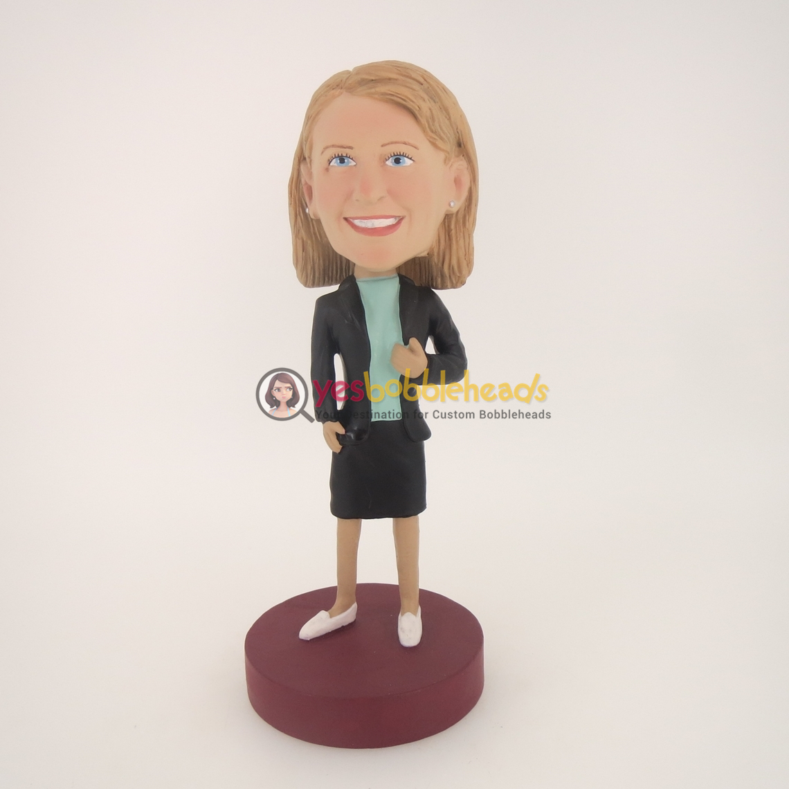Picture of Custom Bobblehead Doll: Black Jacket Woman