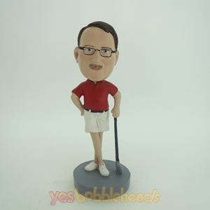 Picture of Custom Bobblehead Doll: Leaning On Club Golfer