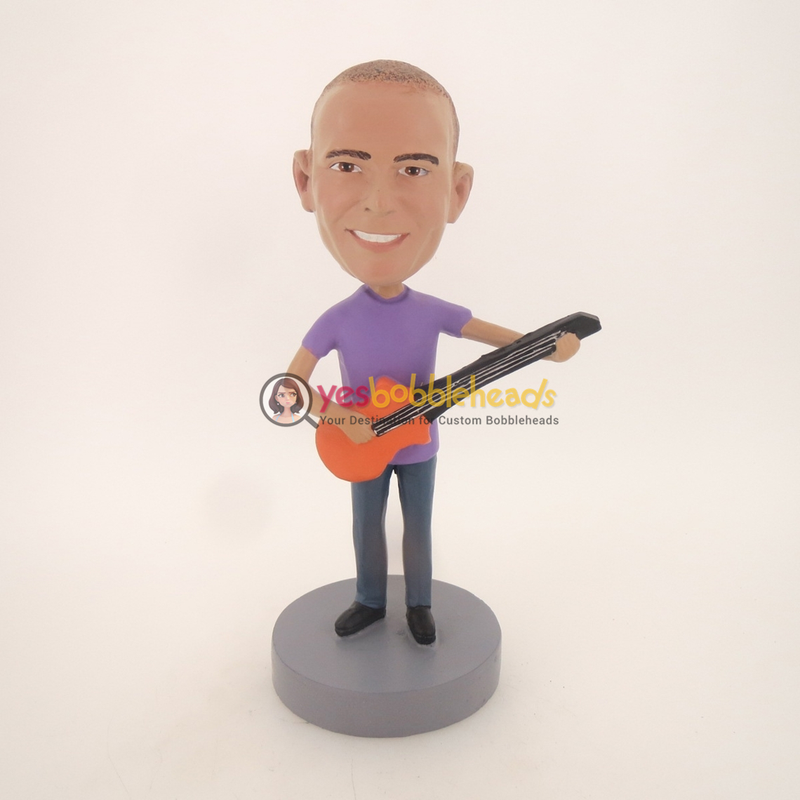 Picture of Custom Bobblehead Doll: Male Acoustic Guitar Player
