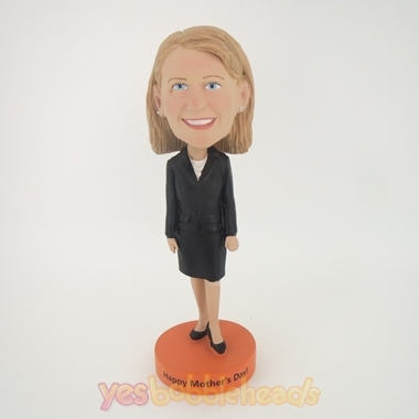 Picture of Custom Bobblehead Doll: Black Suit Girl
