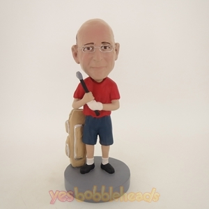 Picture of Custom Bobblehead Doll: Male Golfer In Shorts