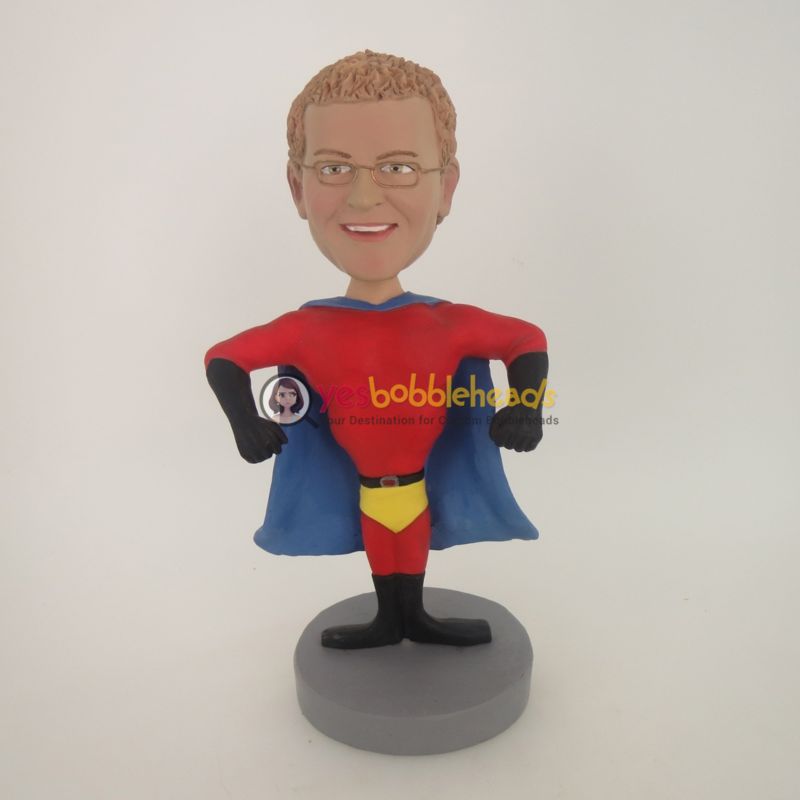 Picture of Custom Bobblehead Doll: Male Muscle Man Superman