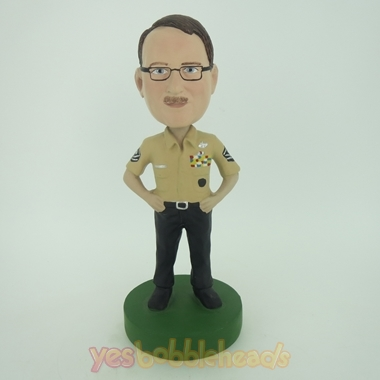 Picture of Custom Bobblehead Doll: Male Police Officer
