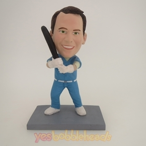 Picture of Custom Bobblehead Doll: Male Swinging Baseball Bat