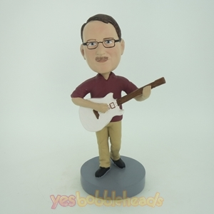 Picture of Custom Bobblehead Doll: Male With Acoustic Guitar