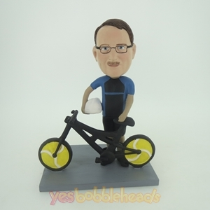 Picture of Custom Bobblehead Doll: Man And Bicycle