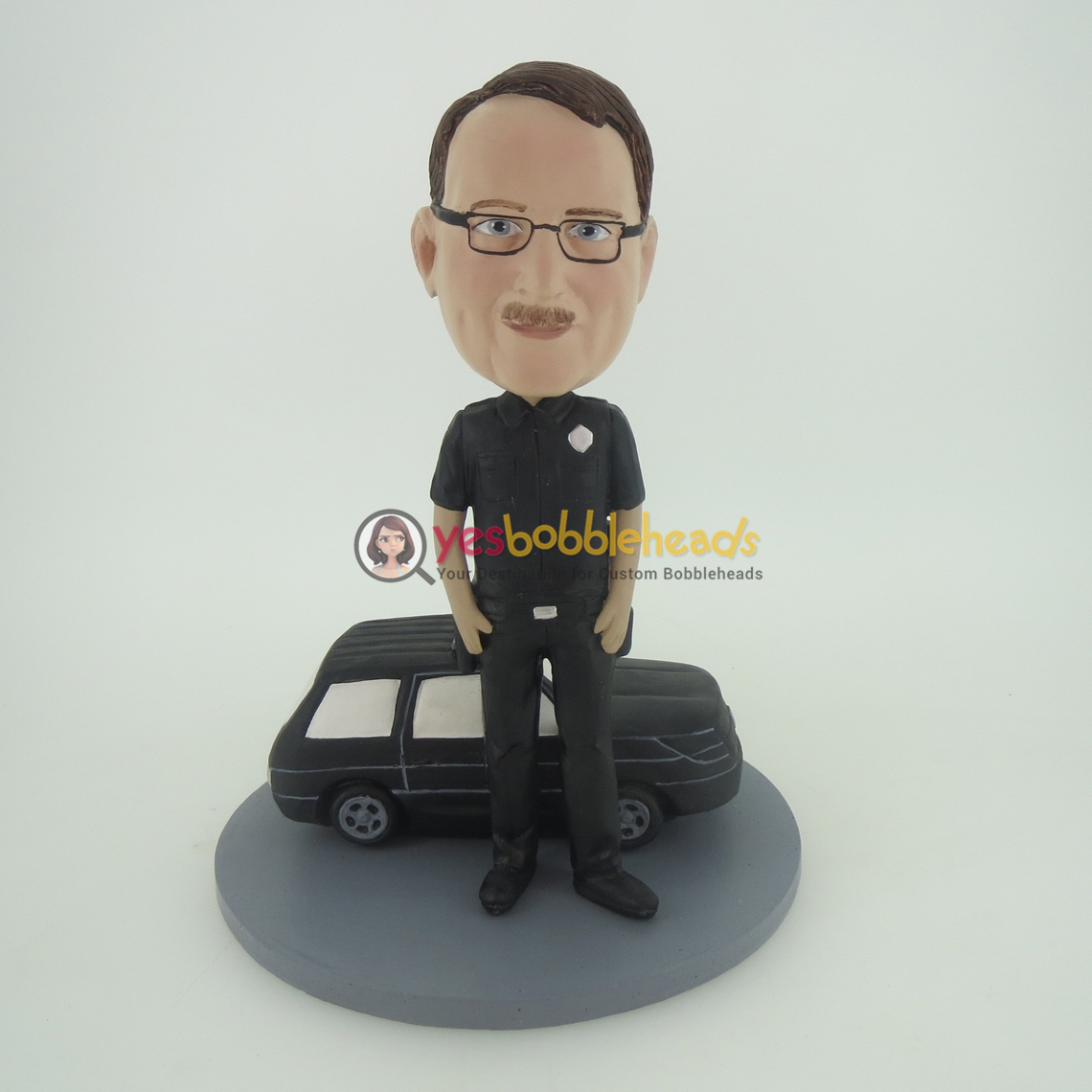 Picture of Custom Bobblehead Doll: Man And Black Car