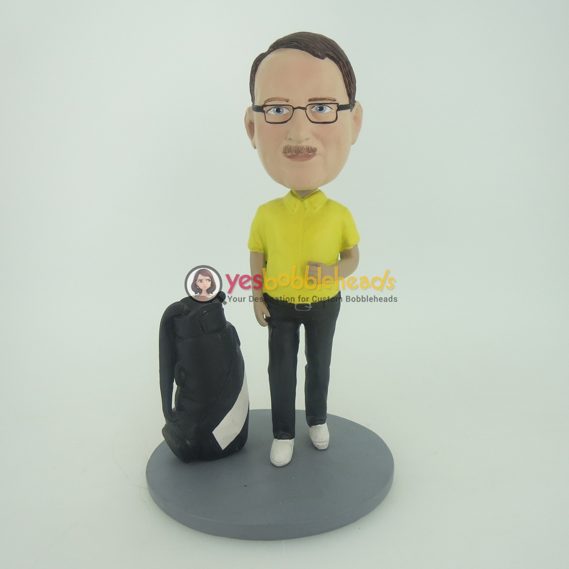 Picture of Custom Bobblehead Doll: Man And Golf Club