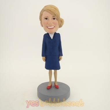 Picture of Custom Bobblehead Doll: Blue Suit Woman