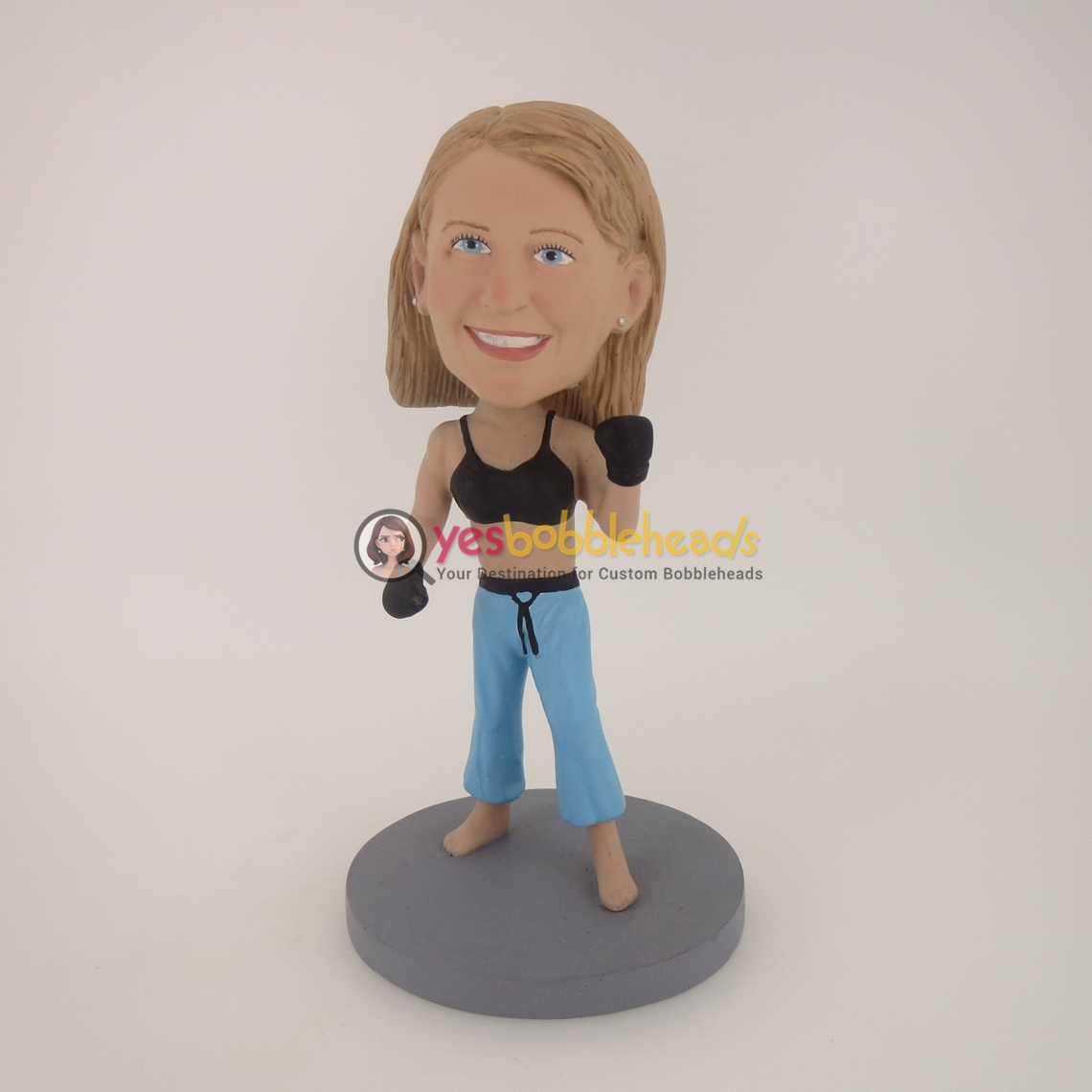 Picture of Custom Bobblehead Doll: Boxing Woman