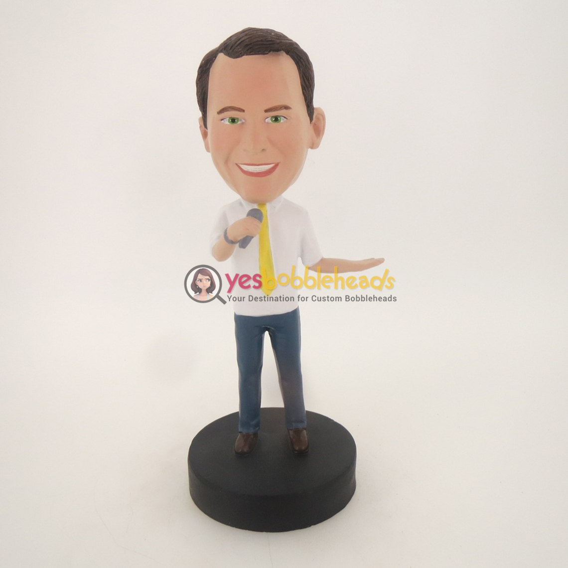 Picture of Custom Bobblehead Doll: Man Having Speech