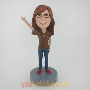 Picture of Custom Bobblehead Doll: Brown Sleeves Woman