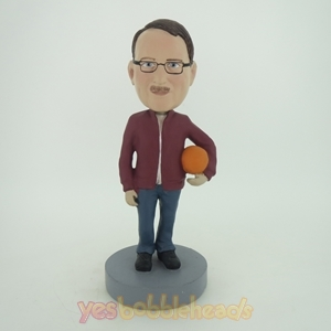 Picture of Custom Bobblehead Doll: Man Holding Ball Left